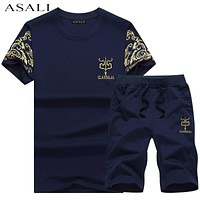 New Fashion Sport suit and Tee Shirt Set Men T Shirt Shorts Short Pants Men Summer Tracksuit Men Casual Tee Shirts