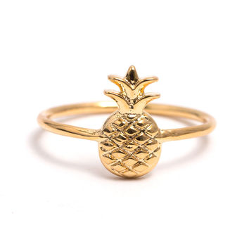 Pineapple Ring In Gold