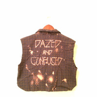Dazed and Confused Crop Top in Plaid Flannel