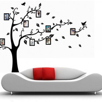 Black Wall Decal Sticker Removable Photo Frame Tree Family Quote Branches Home Decor Right
