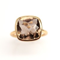 Smokey Quartz Gemstone Ring