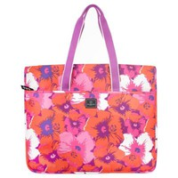 French West Indies Garment Tote in Purple Floral