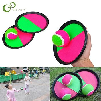 1Set Kids Sucker Sticky Ball Toy Outdoor Sports Catch Ball Game Set Throw And Catch Parent-Child Interactive Outdoor Toys ZXH