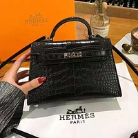 Hermes High Quality New Fashionable Women Leather Handbag Tote Shoulder Bag Crossbody Satchel Black