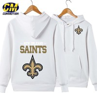 NFL American football Men's casual hoodie fashion sweatshirt outdoor sports pullover New Orleans Saints