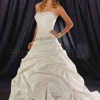 Charming White Ball Gown Scoop Neckline Wedding Dress-SinoSpecial.com - ShopCliq