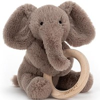 Shooshu Elephant Wooden Ring Toy by JellyCat