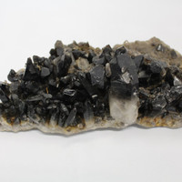Vintage Bicolor Clear & Smoky Quartz Rough Raw Crystal Point Cluster Natural Stone Home Decoration