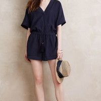 Twelfth Street by Cynthia Vincent Viaje Romper in Navy Size: