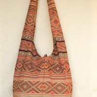 YAAMSTORE red northern tribe  graphic hobo bag sling shoulder crossbody hippie boho purse