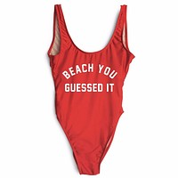 Beach You Guessed It One Piece Swimsuit