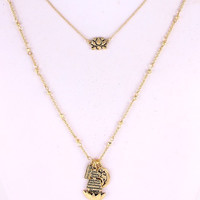 Buddha Necklace Gold