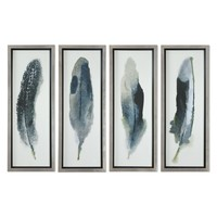Feathered Beauty Prints, Set of 4 by Uttermost