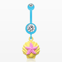 Ariel's Starfish Shell Belly Button Ring