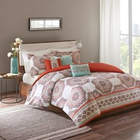 Regency Heights Anika 6-Piece Duvet Cover Set in Spice