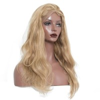 Blonde Lace Front Wig With Baby Hair Bleached Knots European Remy Hair Wigs 250% Density