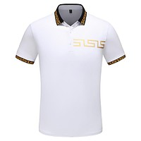 Versace Fashion Casual Shirt Top Tee White