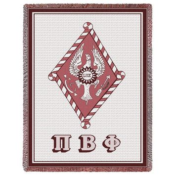 PI BETA PHI AFGHAN THROW BLANKET