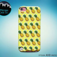 Pineapple Pattern Emoji Yellow Awesome Fun Cool Case for iPod Touch 6th 5th Gen