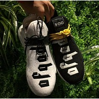 Fear of God FOG x Adidas NMD Pharrell Williams Human Race Sport Running Shoes Classic Casual Shoes Sneakers