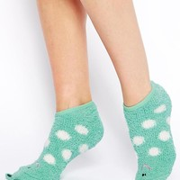 Oysho Frog Slipper Socks