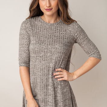 To Be In Love Taupe Dress