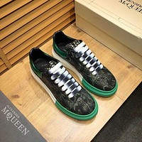 Alexander McQUEEN Men Fashion Boots fashionable Casual leather Breathable Sneakers Running Shoes-86