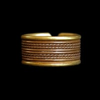 Vintage Copper and Brass Band Ring Men or Women's Ring Unisex Ring