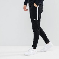 Nike tribute joggers in slim fit in black 861652-010 at asos.com