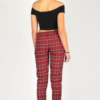 Pants - Red Plaid - purrrshop