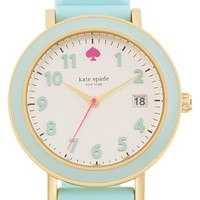 Women's kate spade new york 'metro' silicone strap watch, 34mm - Blue