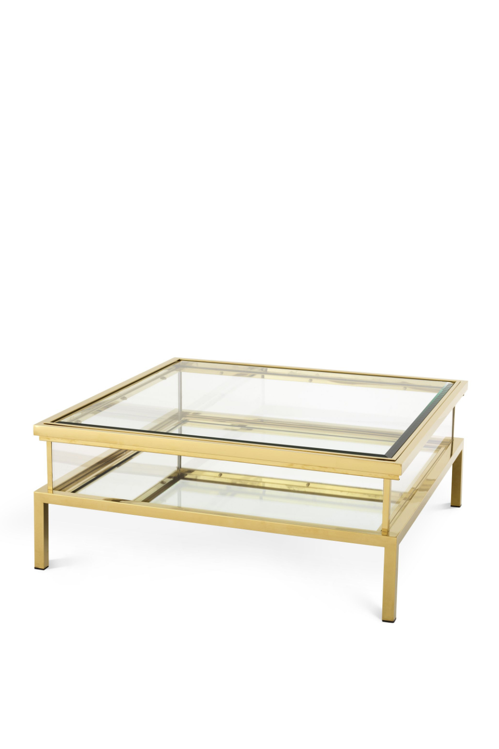 Image of Gold Sliding Top Coffee Table | Eichholtz Harvey