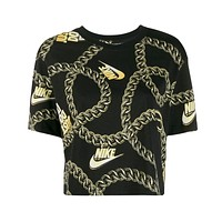 Nike Women's Glam Dunk Crop Tee Black