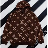 LV hooded sweater couple's autumn and winter top