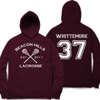 Whittemore 37 Teen Wolf Beacon Hills Inspired Lacrosse Adult Fashion Hoodie