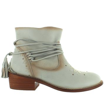 Musse & Cloud Kylie - Ice Leather Tassel Wrap Short Bootie