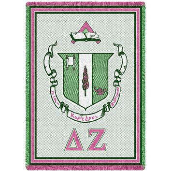 Delta Zeta Afghan Throw Blanket