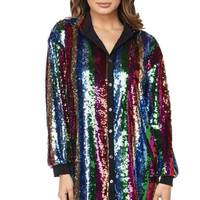 Shining Nights Oversize Button Down Dress