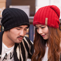 Man and Woman 2015 New Fashion Warm Wool Knitted Hat Korean Style Winter Skullies&Beanies Cap For Woman