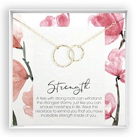 Strength  Linked Circles Necklace