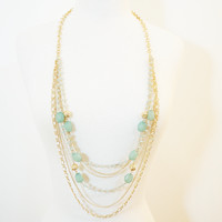 Layered Multi-Chain Necklace