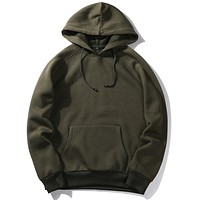 Men's Solid Fleece Hoodie