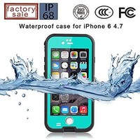 GkGk® Waterproof Case iPhone 6 [Newest], 6.6FT Underwater Shockproof Dirtproof Protective Cover Sturdy and Full Sealed for Apple iphone6 4.7 inch(Blue)