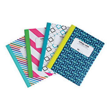 Office Depot Brand Fashion Composition Book 7 12 x 9 34 College Ruled 100 Sheets Assorted Geometric Designs No Design Choice by Office Depot