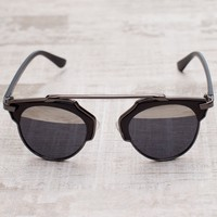 The Lookout Sunglasses - Black/Mirror