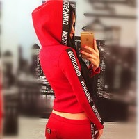 Moschino Woman Casual fashion running sports two piece suit
