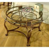 Hillsdale Scottsdale Contemporary Cocktail Table with Glass Top - 40386OTC - Accent Tables - Decor