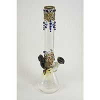 Beaker Based Bong -  The Frog - Amber, Purple & Blue - Bongs and Waterpipes - Smoking Pipes - Grasscity.com