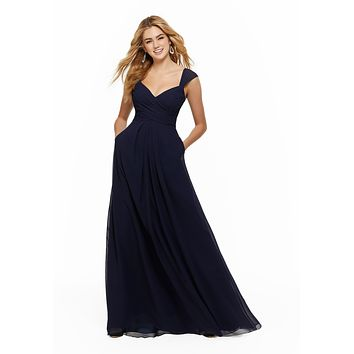 Morilee Bridesmaids 21647 | Chiffon Bridesmaids Dress with Pockets