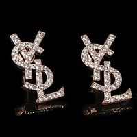 YSL Yves Saint Laurent 2018 Trendy Earrings Letter Earrings